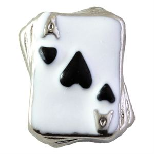 Picture of Black Ace of Hearts Charm
